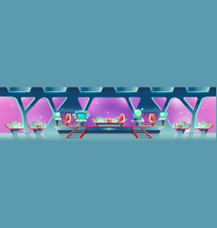 background with interior spaceship vector image