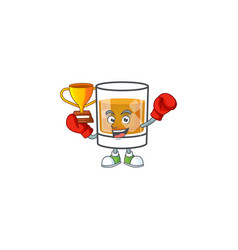 Beverage cold whiskey cartoon character isolated vector
