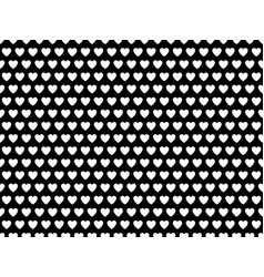 black and white heart shape pattern vector image