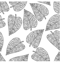 Black and white seamless background tangle pattern vector