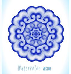 Blue mandala art vector