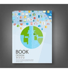 Book design technology vector