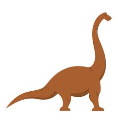 Brown brachiosaurus dinosaur icon isolated vector
