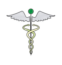 Caduceus medical health care symbol vector