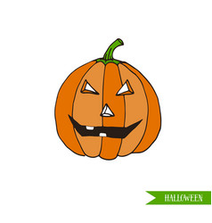 cartoon halloween jack-o-lantern pumpkin vector image