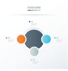 Circle overlap design orange blue gray color vector
