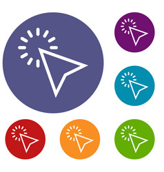click icons set vector image