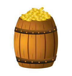 Coin gold barrel vector