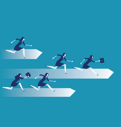 competition business people race concept vector image
