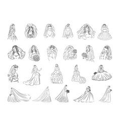 concept of bride icon black vector image