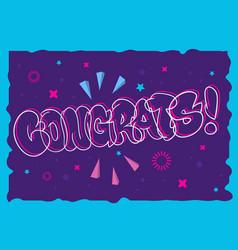 Congratulation congrats greeting card flyer poster vector