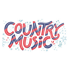 country music festival banner color vector image