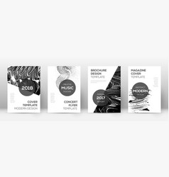 cover page design template modern brochure layout vector image