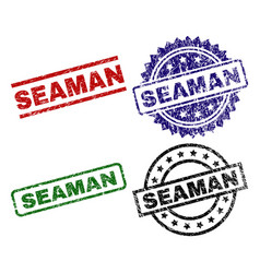 Damaged textured seaman stamp seals vector