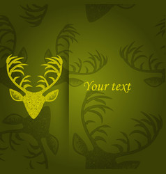 deer heads pattern vector image