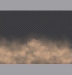 dust cloud road dirt brown sandstorm explosion vector image