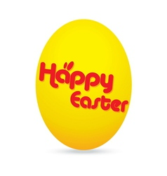 easter day golden egg cartoon character vector image
