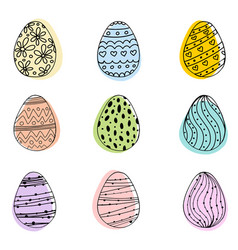 egg icons for easter holidays design isolated on vector image