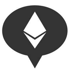 Ethereum banner balloon flat icon vector