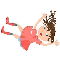 Falling girl rabbit hole vector