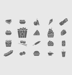 Fast food icons 05 vector