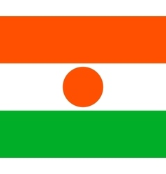 Flag of Niger in correct proportions and colors vector