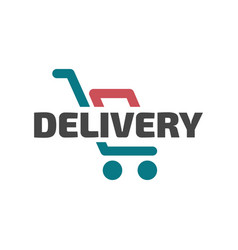 flat delivery icon vector image