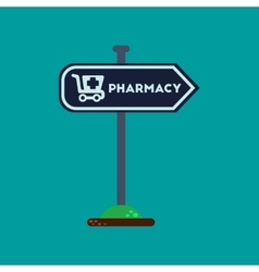 flat icon on background pharmacy sign vector image