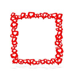 frame fly like social network white background vector image