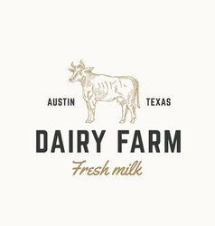 fresh milk dairy farm abstract sign symbol vector image