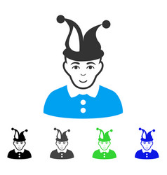 glad fool icon vector image