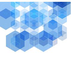 hexagon background technology polygonal design vector image