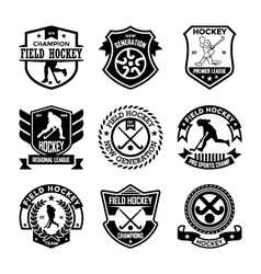Hockey Badges vector image