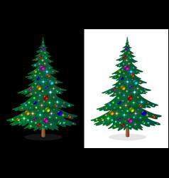 Holiday christmas tree vector