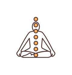 In-body chakras rgb color icon vector