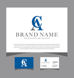 Initial ac logo design for various business vector