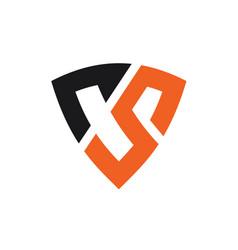 letter cs logo template vector image