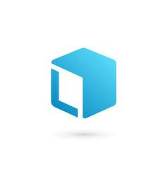 letter l cube logo icon design template elements vector image