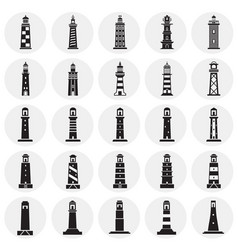 lighthouse icons set on background for graphic an vector image