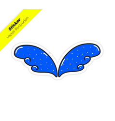 magic wings sticker vector image