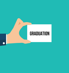 man showing paper graduation text vector image