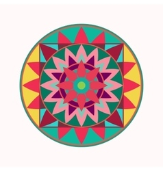 Mandala tattoo icon Geometric round stylized vector image