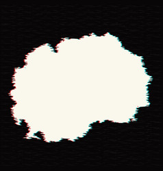 map macedonia isolated black vector image