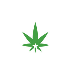 marijuana leaf logo icon design element template vector image