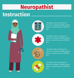 medical equipment instruction for neuropathist vector image