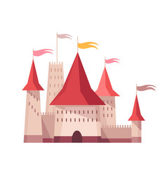 Medieval kingdom character fairy-tale castle of vector