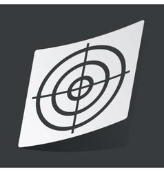 Monochrome aim sticker vector