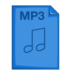 MP3 file icon cartoon style vector image