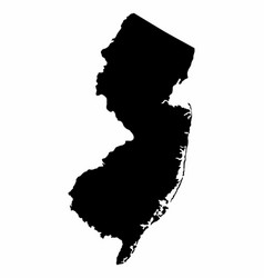 New jersey silhouette map vector