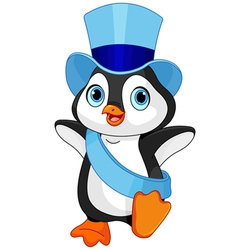 New year baby penguin vector